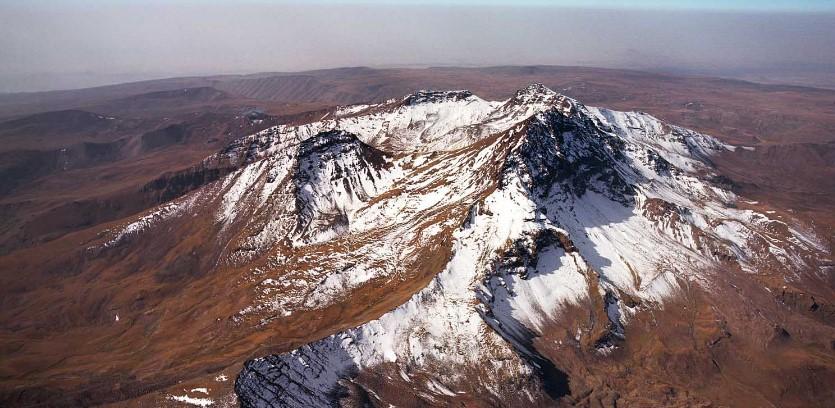 Гора Арагац вулкан Армении