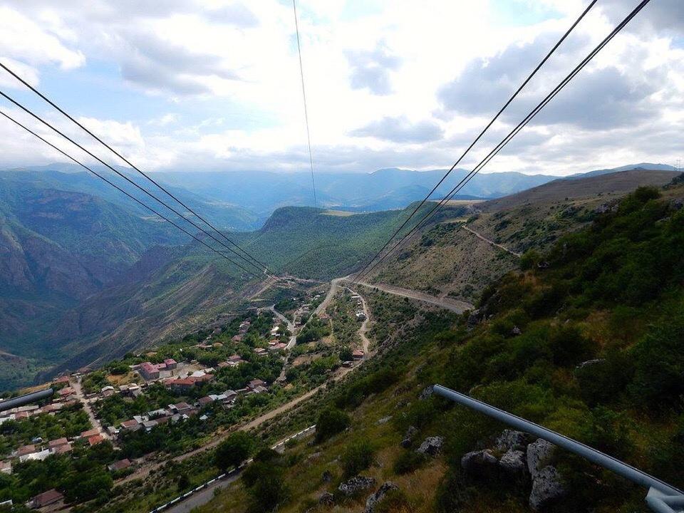 Село Алидзор и канатная дорога Татев
